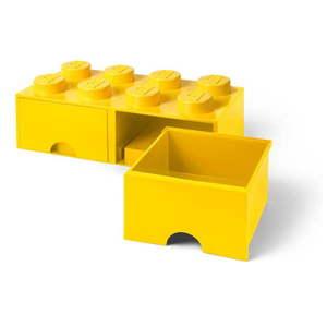 Żółty pojemnik z 2 szufladami LEGO® obraz