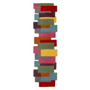 Kolorowy wełniany chodnik Flair Rugs Collage, 60x230 cm obraz