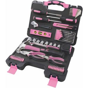 Damski zestaw narzędzi - różowy - Rozmiar 53 szt. obraz