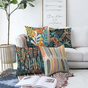 Zestaw 4 poszewek na poduszki Minimalist Cushion Covers Colorful, 55x55 cm obraz