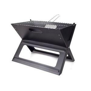Grill piknikowy - czarny - Rozmiar ruszt 46x30, 5cm obraz