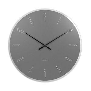 Karlsson KA5800GY Stylowy zegar ścienny, 40 cm obraz