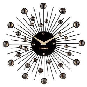 Karlsson 4860BK Designowy zegar ścienny, 30 cm obraz