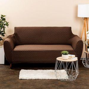 4Home Multielastyczny pokrowiec na kanapę Comfort Plus brązowy, 140 - 180 cm, 140 - 180 cm obraz
