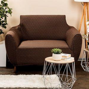 4Home Multielastyczny pokrowiec na fotel Comfort Plus brązowy, 70 - 110 cm, 70 - 110 cm obraz