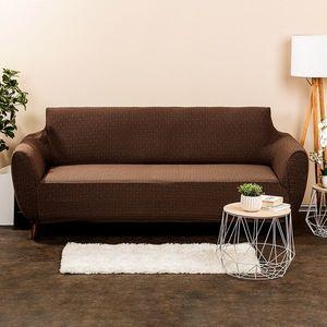 4Home Multielastyczny pokrowiec na kanapę Comfort Plus brązowy, 180 - 220 cm, 180 - 220 cm obraz