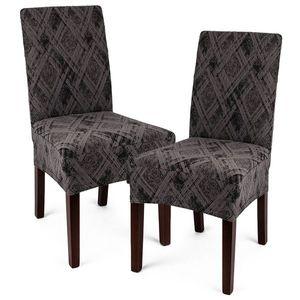 4Home Multielastyczny pokrowiec na krzesło Comfort Plus szary, 40 - 50 cm, zestaw 2 szt. obraz