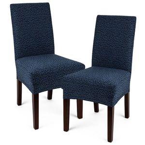 4Home Multielastyczny pokrowiec na krzesło Comfort Plus niebieski, 40 - 50 cm, zestaw 2 szt. obraz