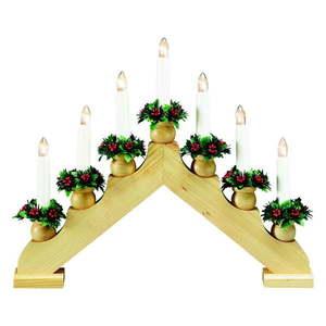 Brązowy świecznik Markslöjd Tomas, wys. 33 cm obraz