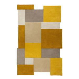Żółto-beżowy wełniany dywan Flair Rugs Collage, 120x180 cm obraz