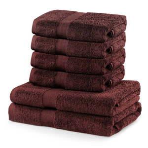 Komplet 6 brązowych ręczników DecoKing Marina obraz
