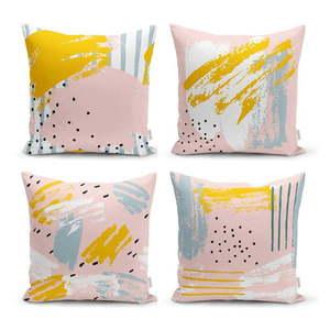 Zestaw 4 dekoracyjnych poszewek na poduszki Minimalist Cushion Covers Pastel Design, 45x45 cm obraz