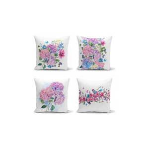 Zestaw 4 dekoracyjnych poszewek na poduszki Minimalist Cushion Covers Purple Pink, 45x45 cm obraz