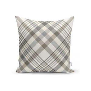 Szaro-beżowa dekoracyjna poszewka na poduszkę Minimalist Cushion Covers Flannel, 35x55 cm obraz