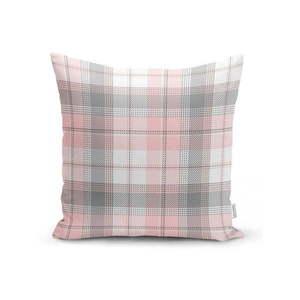 Szaro-różowa dekoracyjna poszewka na poduszkę Minimalist Cushion Covers Flannel, 35x55 cm obraz