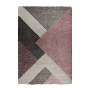 Różowo-szary dywan Flair Rugs Zula, 160x230 cm obraz