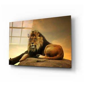 Szklany obraz Insigne Lion, 110x70 cm obraz