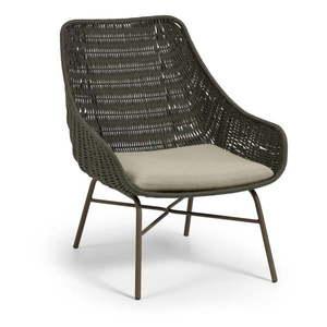 Zielony fotel ogrodowy La Forma Abeli obraz