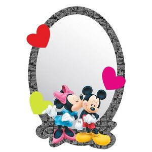 Lustro samoprzylepne dla dzieci Mickey i Minnie, 15 x 21, 5 cm obraz
