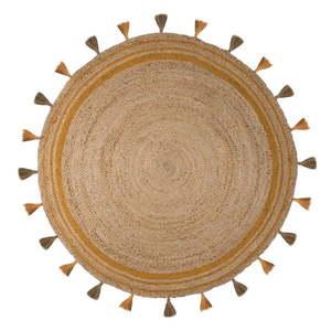 Brązowo-żółty dywan z juty Flair Rugs Istanbul, ⌀ 150 cm obraz