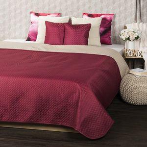 4Home Narzuta na łóżko Doubleface winny/beżowy, 220 x 240 cm, 2x 40 x 40 cm obraz
