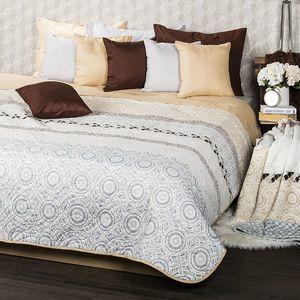 4Home Narzuta na łóżko Circles beżowy, 220 x 240 cm obraz