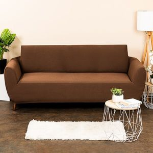 4Home Multielastyczny pokrowiec na kanapę 2-os. Comfort, brązowy, 180 - 220 cm, 180 - 220 cm obraz