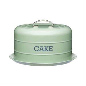 Zielony metalowy pojemnik na tort Kitchen Craft Nostalgia obraz