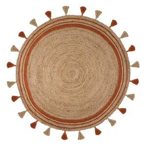 Brązowo-pomarańczowy dywan z juty Flair Rugs Istanbul, ⌀ 150 cm obraz