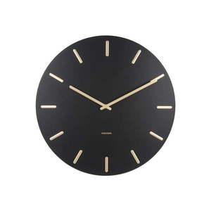 Czarny zegar ścienny Karlsson Charm obraz