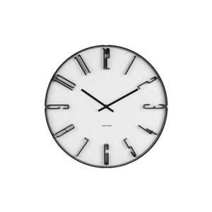 Biały zegar ścienny Karlsson Sentient, ⌀ 40 cm obraz
