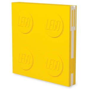 Żółty kwadratowy notatnik z długopisem żelowym LEGO®, 15, 9x15, 9 cm obraz