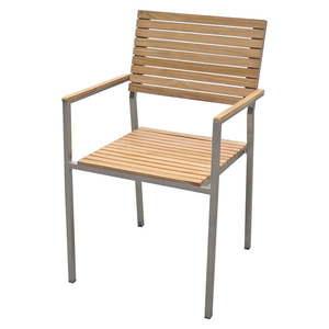 Ogrodowe krzesło sztaplowane z metalową konstrukcją ADDU Denver obraz