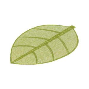 Zielona mata stołowa w kształcie liścia Unimasa, 50x33 cm obraz