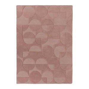 Różowy wełniany dywan Flair Rugs Gigi, 120x170 cm obraz