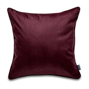 Ciemnoczerwona aksamitna poszewka na poduszkę WeLoveBeds Eggplant, 50x50 cm obraz