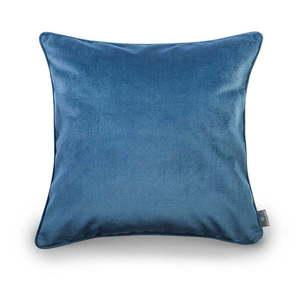 Niebieska aksamitna poszewka na poduszkę WeLoveBeds Jeans, 50x50 cm obraz