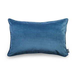 Niebieska aksamitna poszewka na poduszkę WeLoveBeds Jeans, 40x60 cm obraz