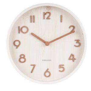 Karlsson 5808WH Stylowy zegar ścienny śr. 22 cm obraz