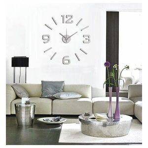 StarDeco Zegar ścienny matowy srebrny, śr. 60 cm obraz