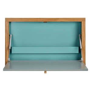Niebieski składany stolik ścienny Woodman Banti obraz
