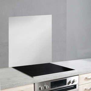 Szklana płyta ochronna na ścianę przy kuchence w srebrnej barwie Wenko, 70x60 cm obraz