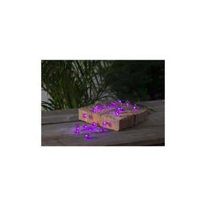Różowa ogrodowa girlanda świetlna LED z motywem żarówek Best Season Bulb, 20 lampek obraz