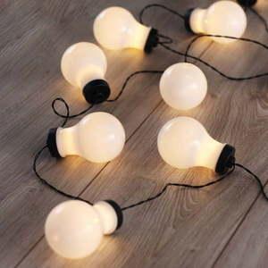 Czarna girlanda świetlna LED w kształcie żarówek DecoKing Bulb, 10 lampek, dł. 2, 2 m obraz