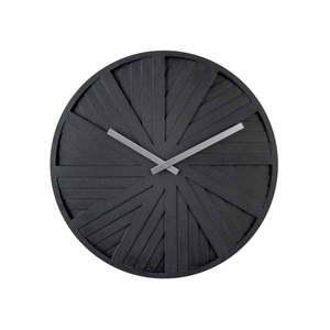 Czarny zegar ścienny Karlsson Slides, ⌀ 40 cm obraz