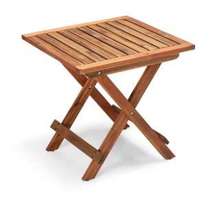 Składany ogrodowy stolik z drewna akacji Le Bonom Diego, dł. 50 cm obraz