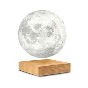 Lewitująca lampa stołowa w kształcie księżyca Gingko Moon White Ash obraz