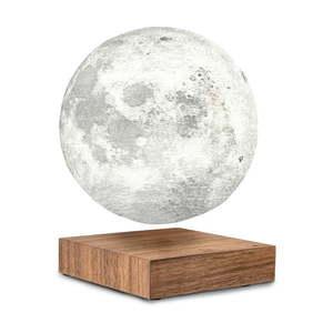 Lewitująca lampa stołowa w kształcie księżyca Gingko Moon Walnut obraz