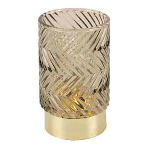 Brązowa szklana lampka dekoracyjna LED PT LIVING Zig Zag obraz