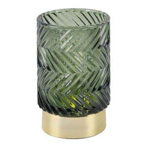 Zielona szklana lampka dekoracyjna LED PT LIVING Zig Zag obraz